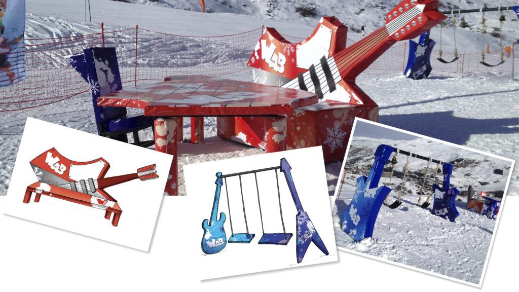 Les Menuires première piste de ski musicale en Europe à travers le parcours Walibi gliss.