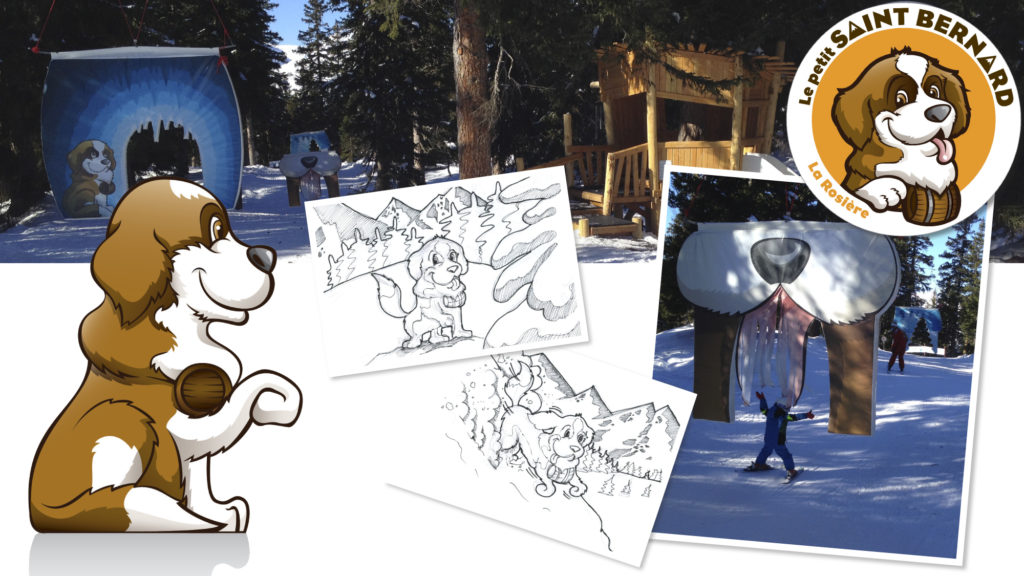 Parcours d'animation et d'apprentissage par le jeu pour les petits skieurs en herbe.