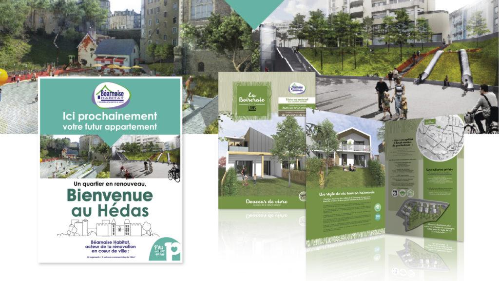 Le promoteur immobilier Béarnaise Habitat à fait appel à l'agence Ho5 à l'occasion du salon de l'habitat à Pau
