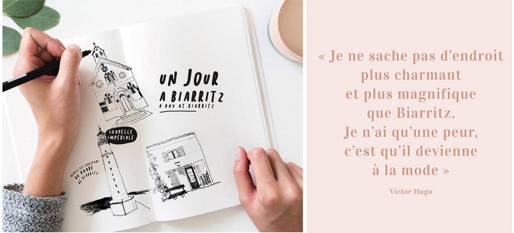création magazine touristique biarritz