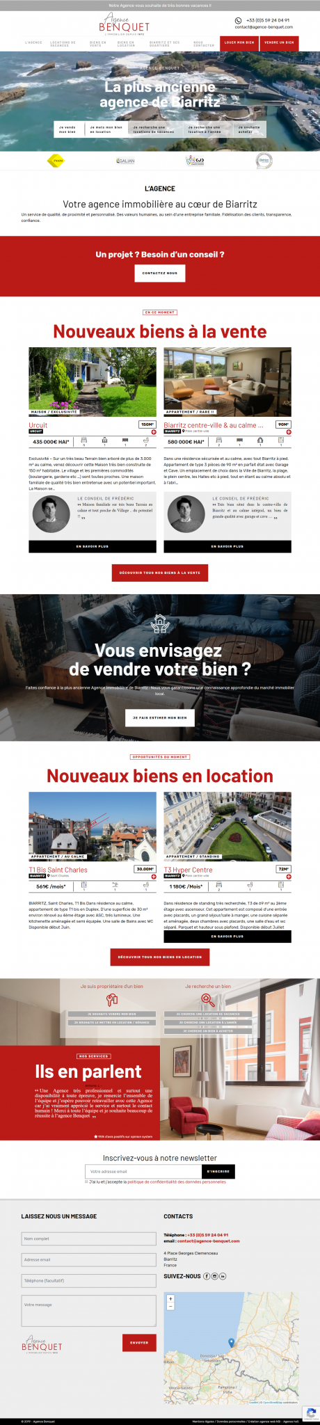 site internet benquet immobilier