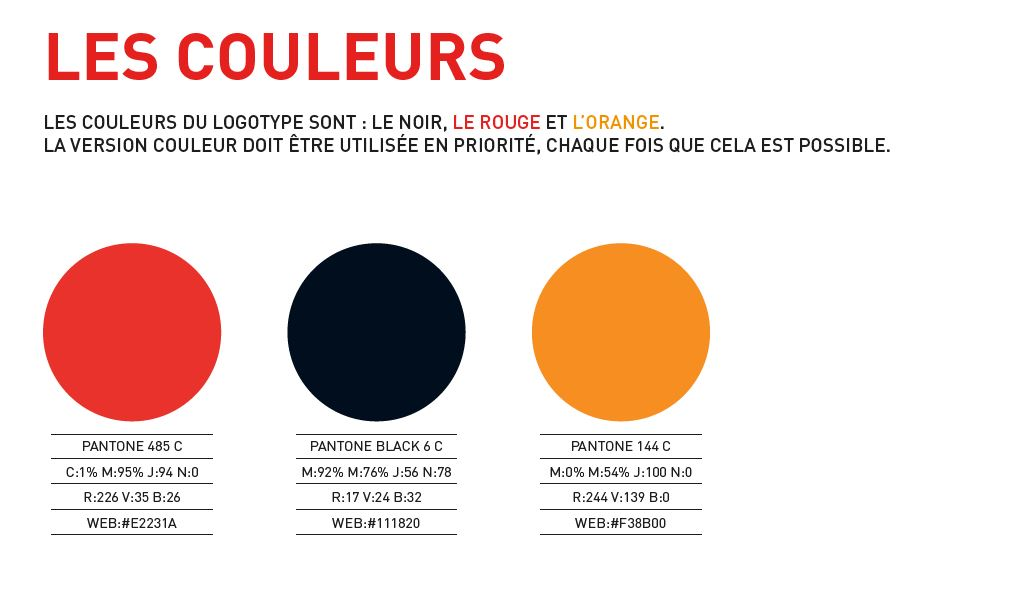 codes couleurs