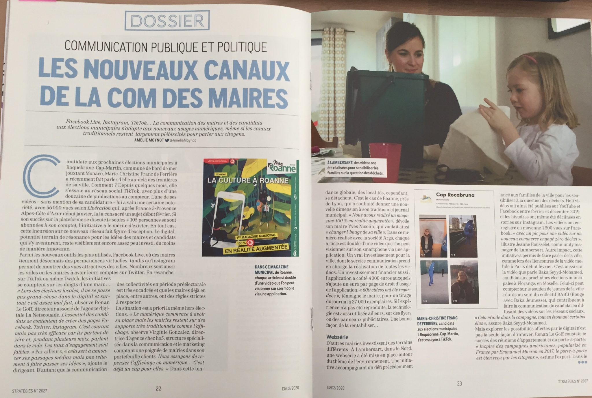 Virginie Gonzalez magazine Stratégies
